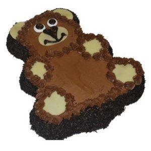 Bilde av en sjokoladekake formet som en bjørn